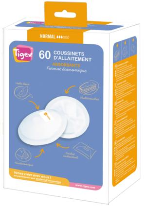 Tigex breastfeeding pads NORMAL x 60