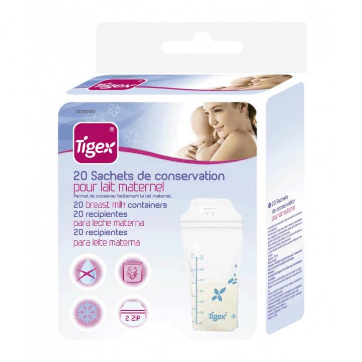 Tigex storage bags for breast milk x 20