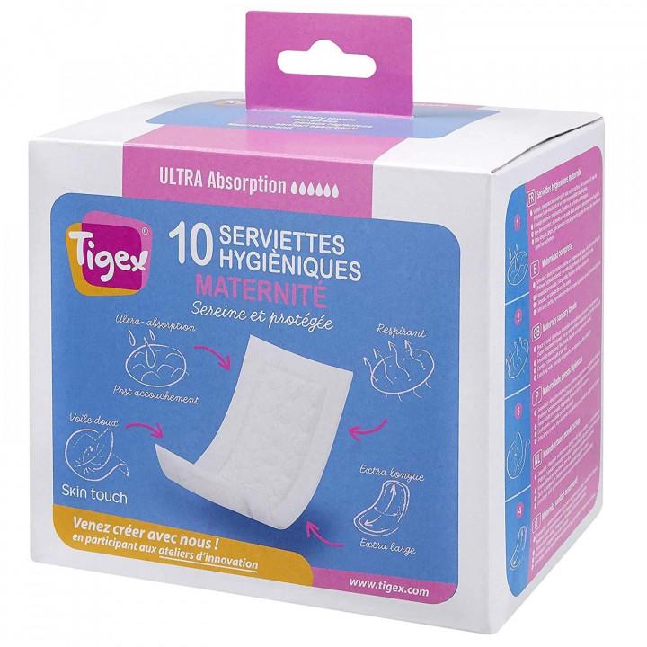 Tigex maternity sanitary towels x 10