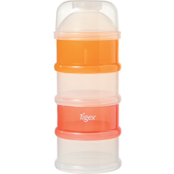 Tigex milk powder dispenser 4 layers white-orange
