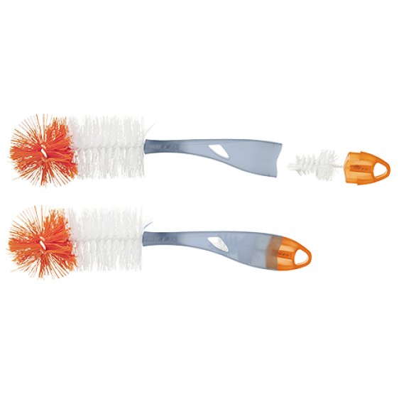 Tigex feeding bottle brush 2 in 1 XXL grey orange