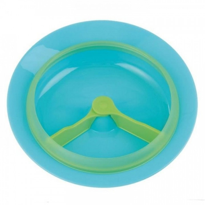 Tigex plate clock microwave with compartments +12 m blue green