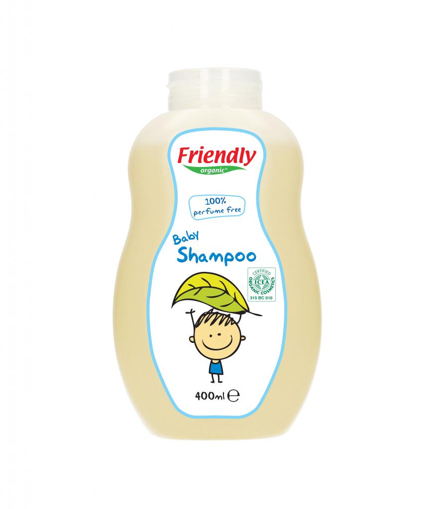 Friendly Organic baby shampoo and body wash 400 ml perfume free