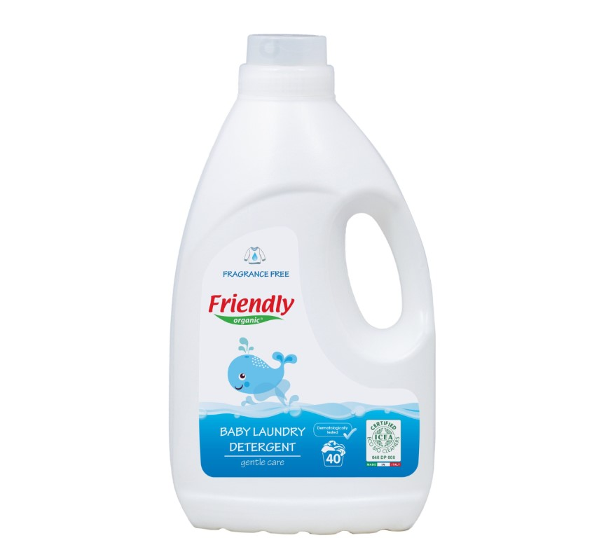 Friendly Organic baby laundry detergent perfume free 2L 40 washes