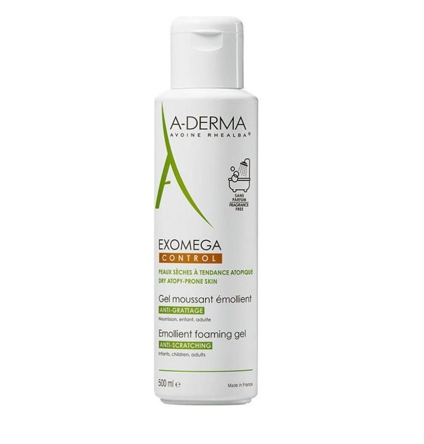 A-Derma EXOMEGA Control Gel Moussant Emollient Foaming Gel Body & Face 500ml