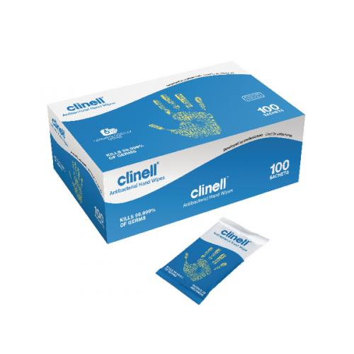 Clinell Antibacterial Hand Wipes 100 Sheets