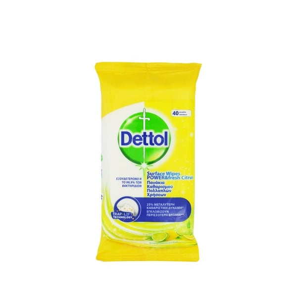 Dettol Surface Wipes Fresh Citrus 40 wipes