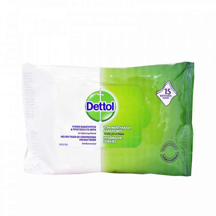 DETTOL WIPES 15 WIPES