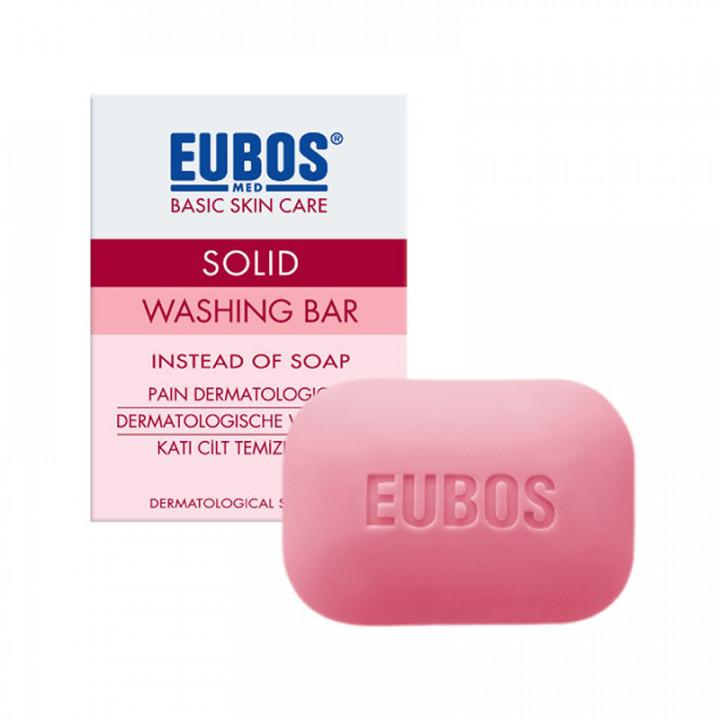 EUBOS Red Solid Washing Bar 125gr