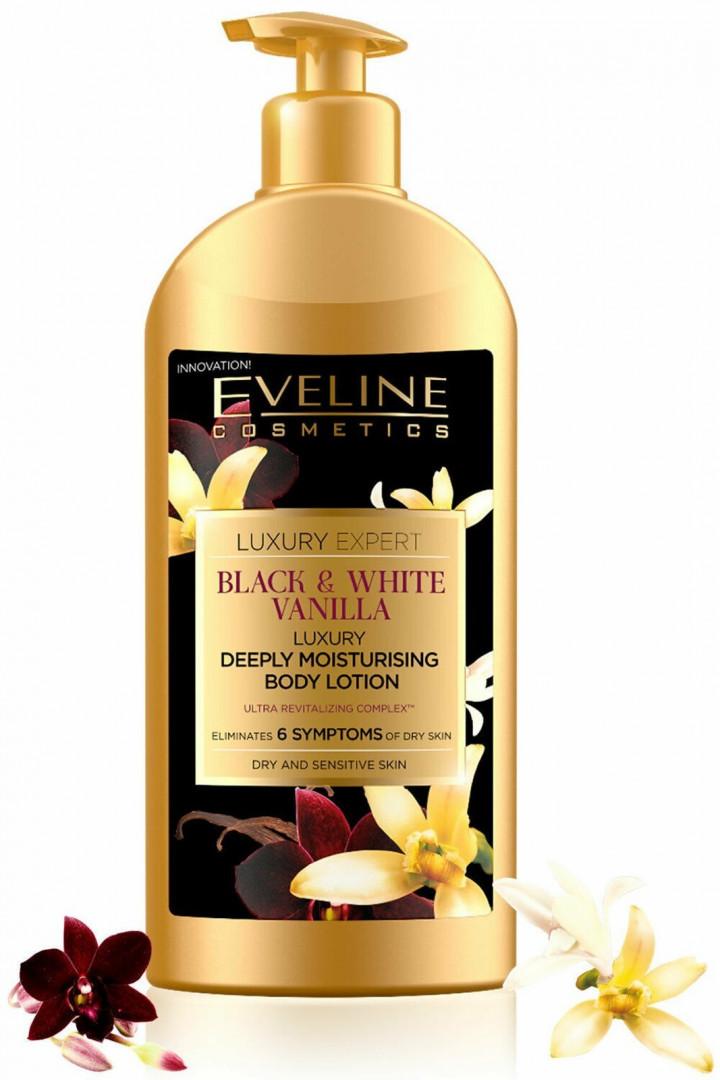 Eveline Luxury Expert Black & White Vanilla Deeply Moisturising Body Lotion 350ML