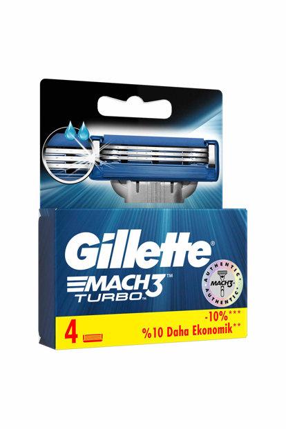 Gillette Mach3 Turbo Razor Blades 4 pieces