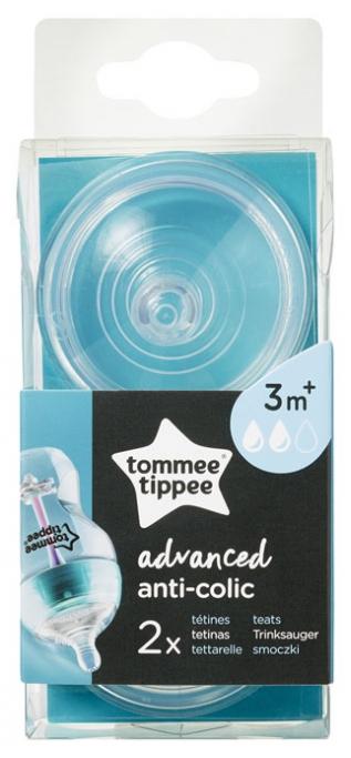 Tommee Tippee Advanced Anti-Colic 2 Medium Flow Teats 3 Months+