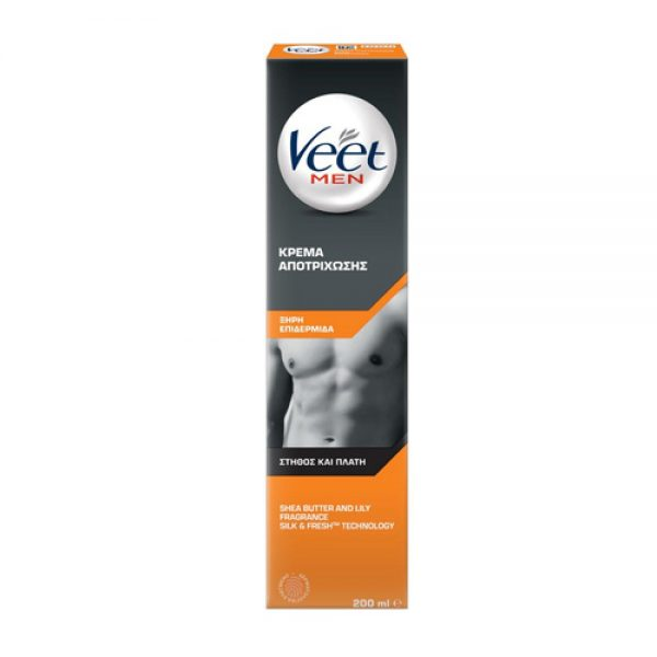 Veet Men Dry Skin Depilatory Cream 200ml
