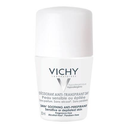 Vichy 48H Anti-Perspirant Deodorant Sensitive or Waxed Skins Roll-on 50ml