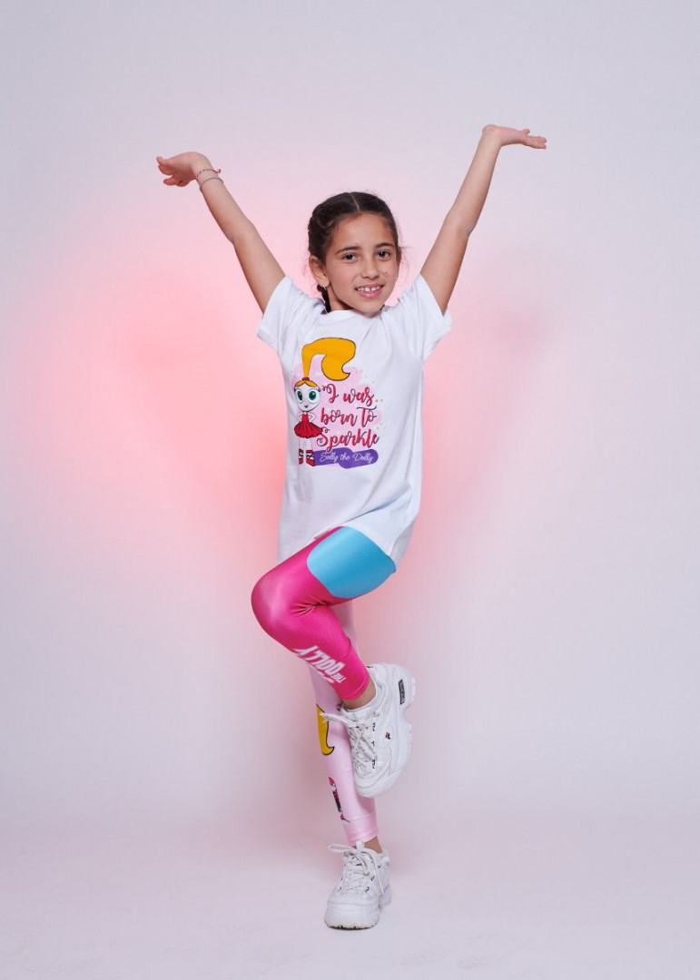 Tricolore turquoise Leggings Kids - 2 years
