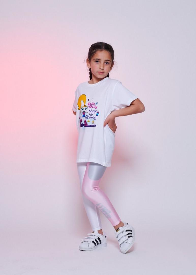 Tricolore Pink Leggings Kids - 8 years