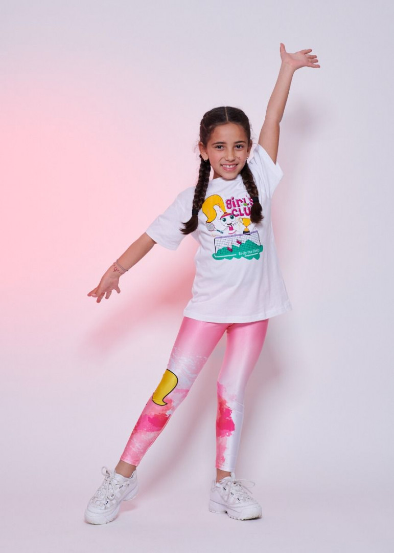 Watercolour Pink Leggings Kids - 8 years