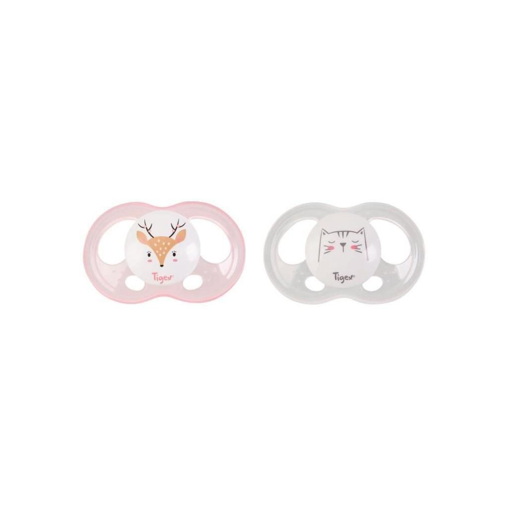 Tigex silicone soothers soft touch 6-18 m girl
