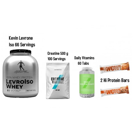 Kevin Levrone Iso Whey 2 kg - 66 Servings + 4 Products - Cookies & Cream
