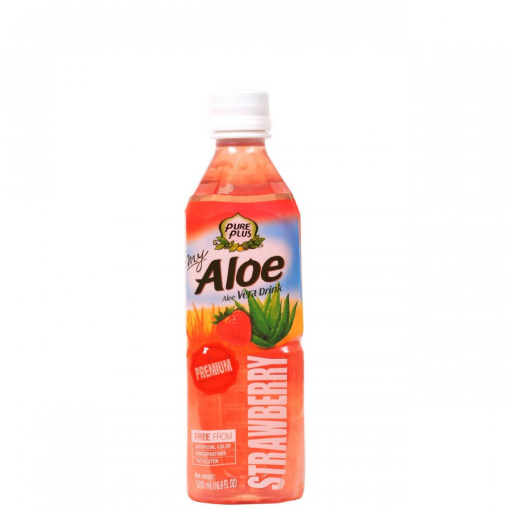 Aloe Vera Pure Plus Strawberry 500ml