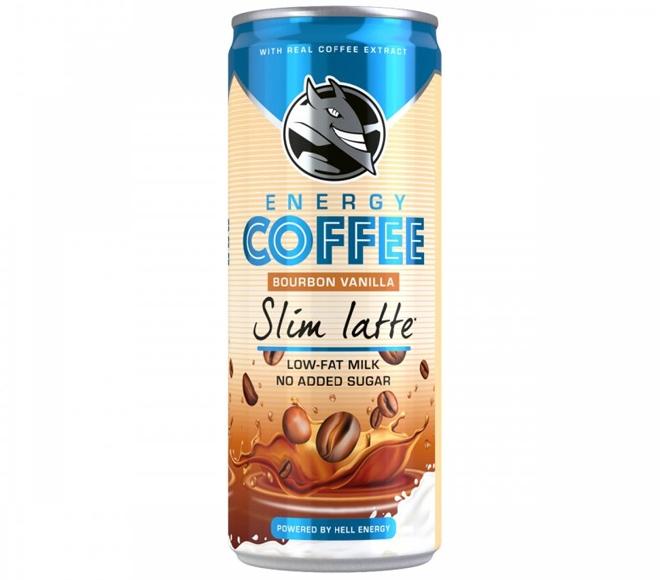 HELL ENERGY COFFEE BOURBON VANILLA SLIM LATTE 250ML