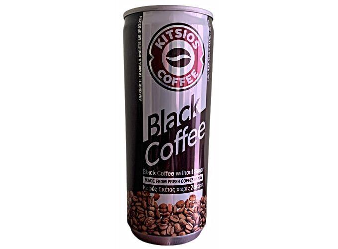 BLACK COFFEE NO SUGAR KITSIOS 240ml