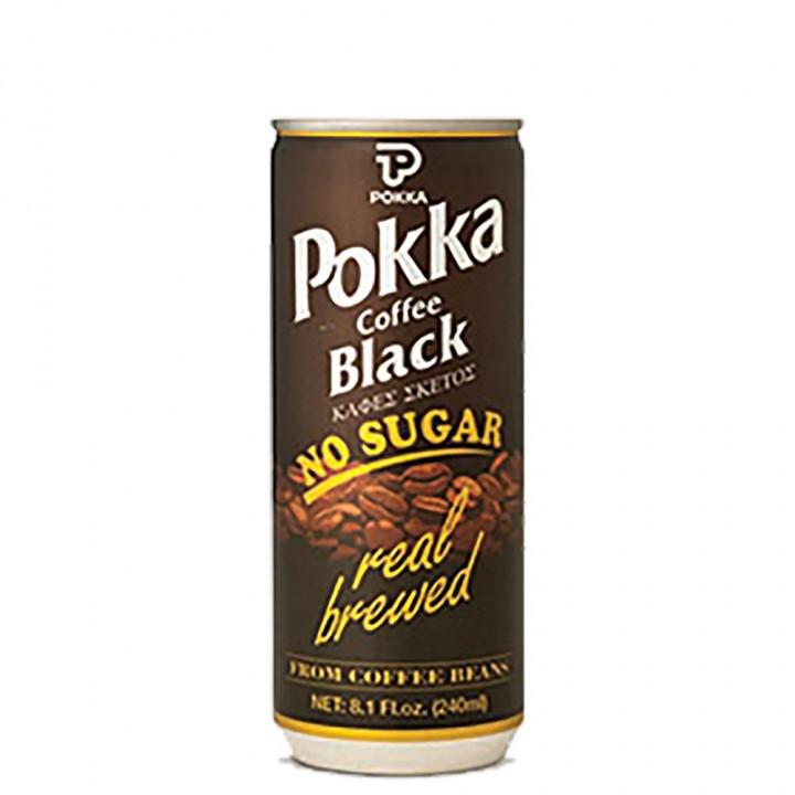 POKKA NO SUGAR BLACK 250ML
