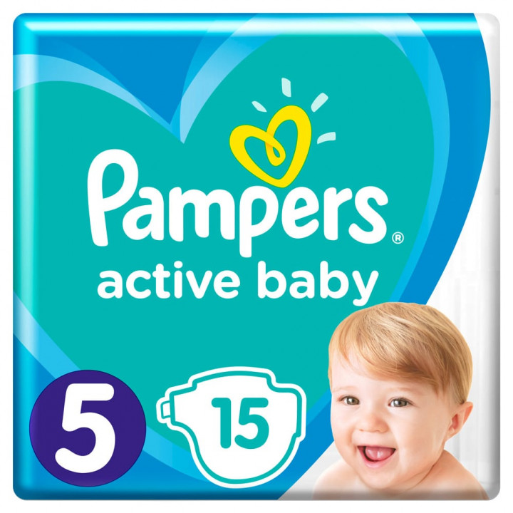 Pampers Active Baby Nappies Carry Pack No. 5 (11-16 kg) 15 pieces