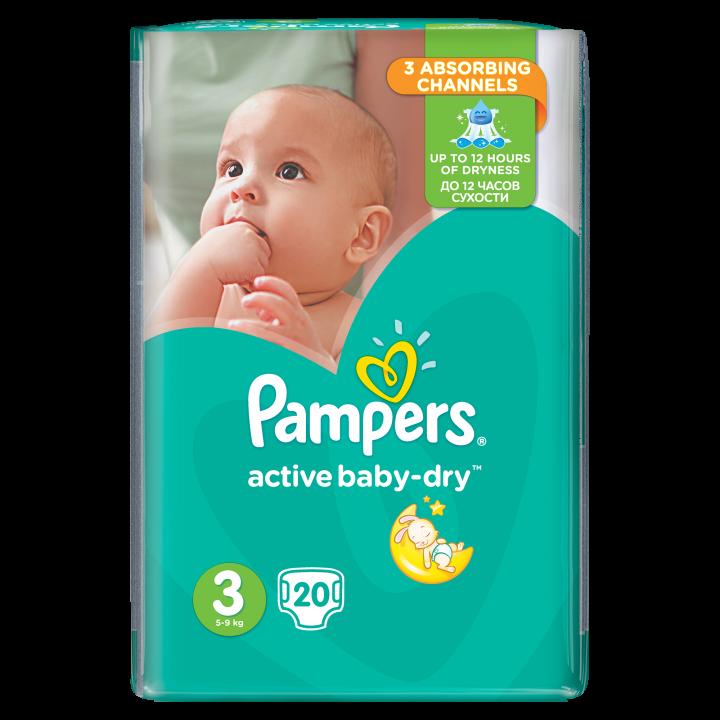 PAMPERS ACTIVE BABY NO.3 (5-9kg)
