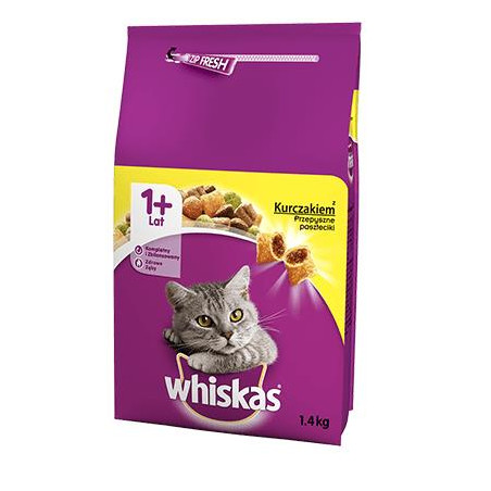 WHISKAS ADULT CAT DRY FOOD WITH CHICKEN 1.4KG