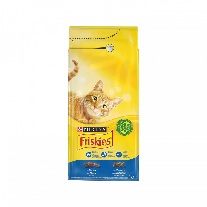 FRISKIES CAT DRY FOOD WITH SALMON & VEGETABLES 2KG