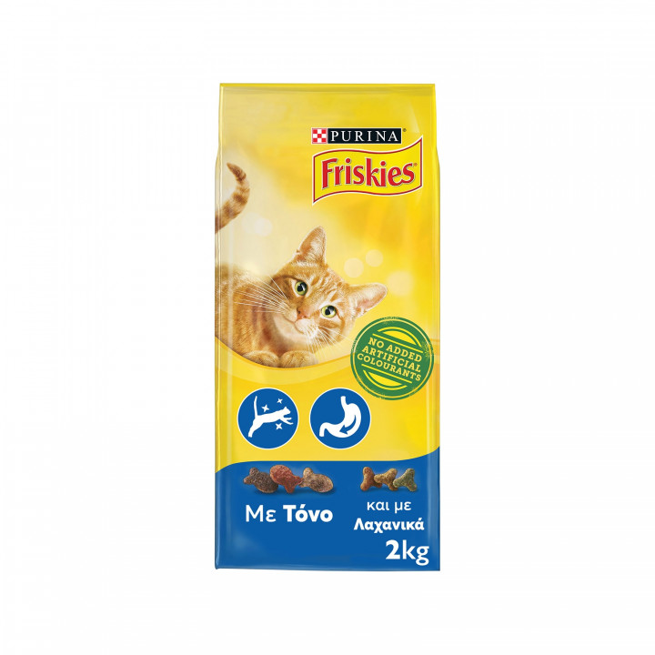 FRISKIES CAT DRY FOOD WITH TUNA AND VEGETABLES 2KG