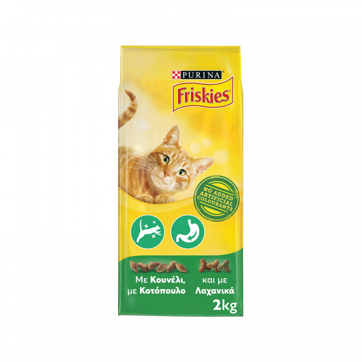 FRISKIES CAT DRY FOOD WITH RABBIT AND CHICKEN 2KG