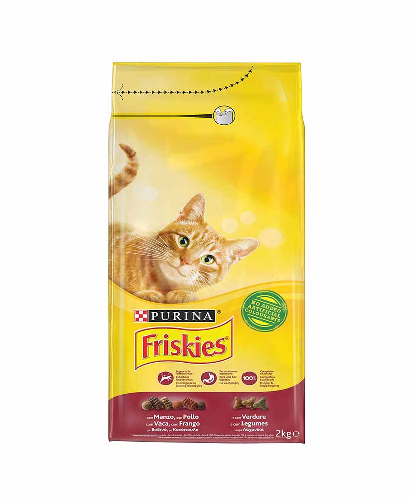 FRISKIES CAT DRY FOOD WITH BEEF 2KG