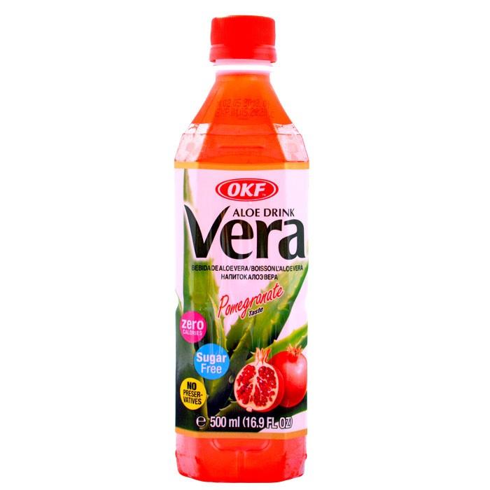 Aloe Vera OKF Zero Sugar Pomegranate 500ml