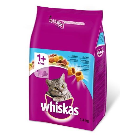 WHISKAS DRY ADULT CAT FOOD WITH TUNA 1.4KG
