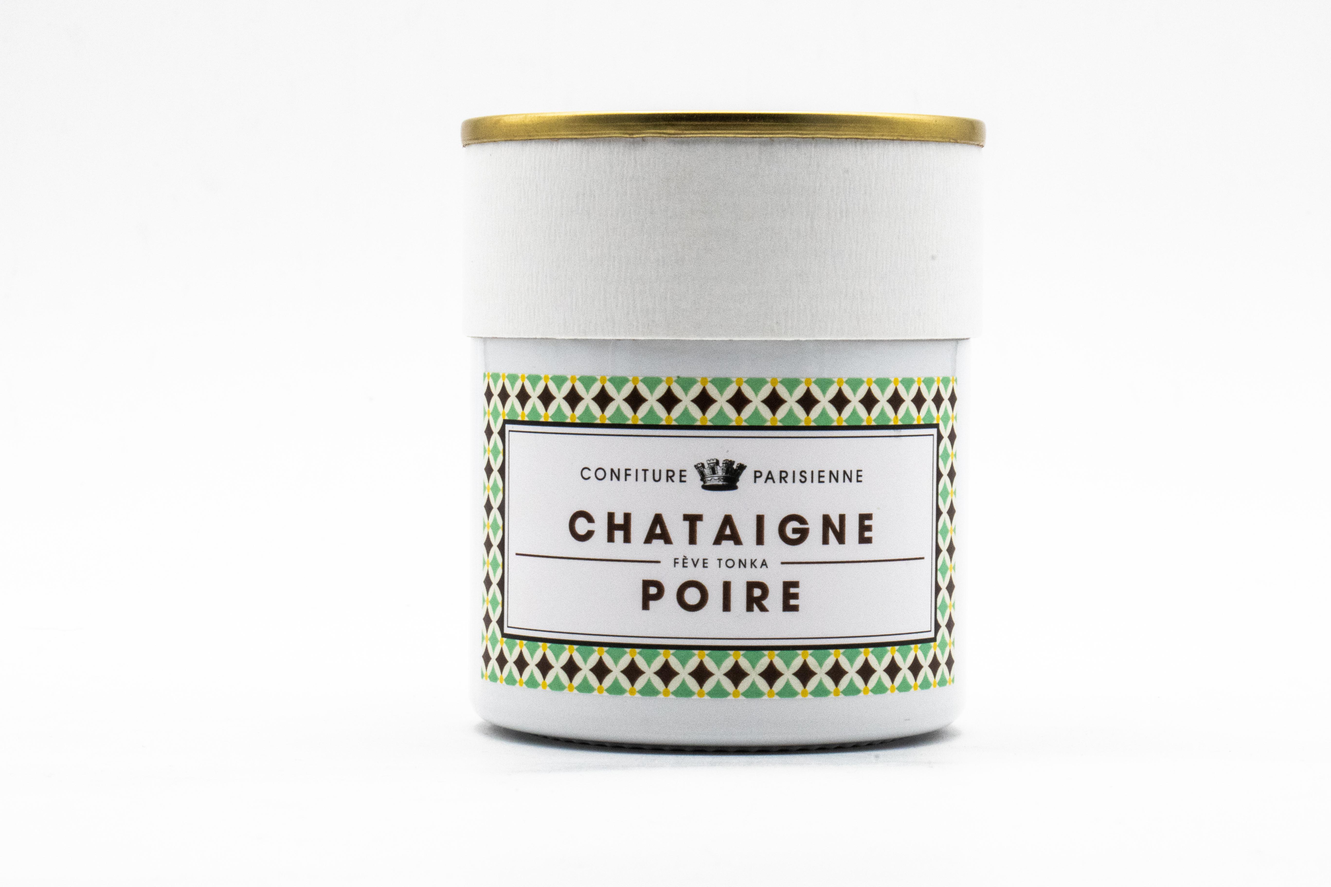CONFITURE PARISIENNE CHATAIGNE (chestnut), POIRE (pear) & TONKA BEAN 250gr