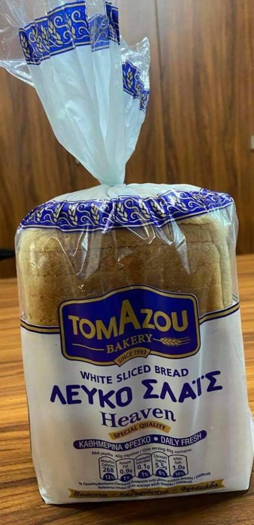 Bread White Sliced Bread Tomazou 600g