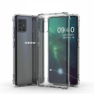 Clear Military Grade Silicone Back Cover for Samsung Galaxy A71