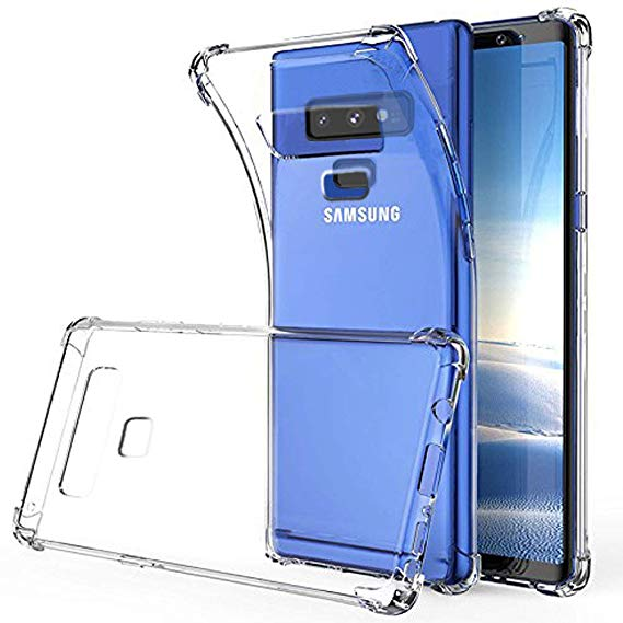 Anti Shock Soft Clear Silicone Back Cover for Samsung Galaxy Note 9
