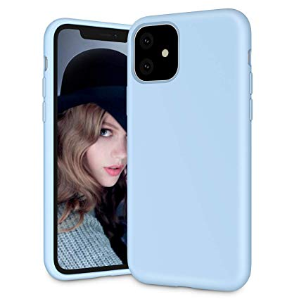 Sky Blue Silicone Back Cover for iPhone 11 2019 XR