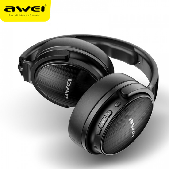 AWEI A780BL Bluetooth 5.0 Foldable Bass Wireless Headphone with 3.5mm Aux Jack