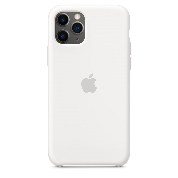 White Silicone Back Cover for iPhone 11 Pro Max 2019