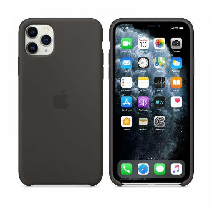 Grey Silicone Back Cover for iPhone 11 Pro 2019