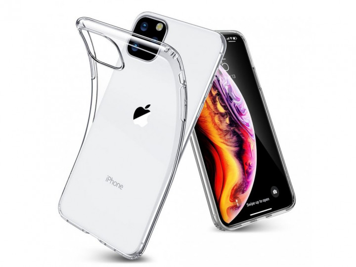 Clear Back Ultra Slim Silicone Cover for iPhone 11 Pro 2019