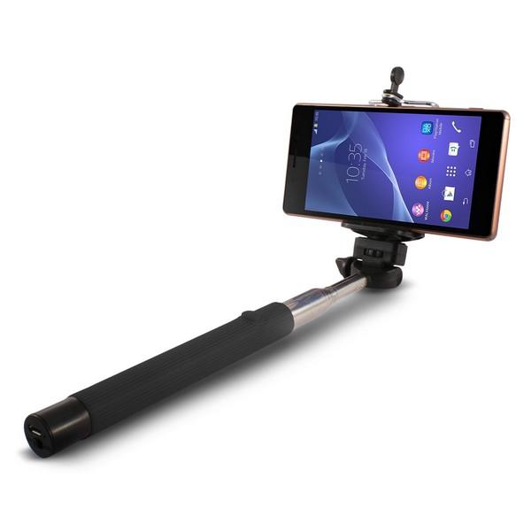 Extendible Bluetooth Selfie Stick KSIX 45mAh Black
