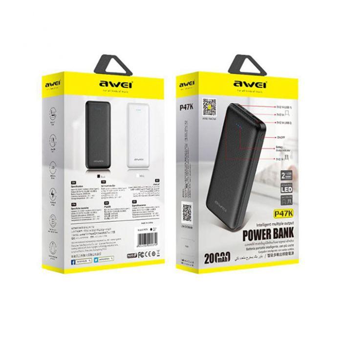 AWEI P47K  Power Bank 20000mAh 2 USB Ports