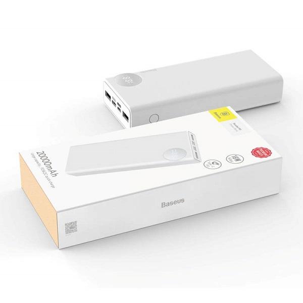 Baseus Power Bank Mulight PD3.0 Quick Charge 20000 mAh White