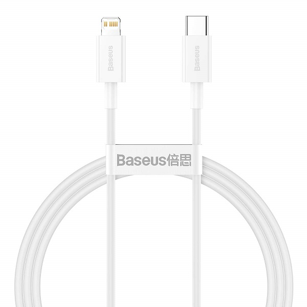 Baseus Type-C - Lightning Superior Series fast charging data cable PD 20W 1m White