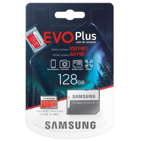 Samsung MicroSD Card EVO+ 128GB + Adapter